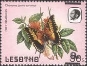 Lesotho 1984 Butterflies/ Insects/ Nature 9s on 30s surcharge ERROR 1v (b2391c)