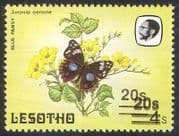 Lesotho 1984 Butterflies Surcharge ERROR 1v ref:b3690