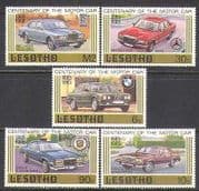 Lesotho 1985 Cars  /  Transport  /  Rolls  /  Benz 5v set (s2611)