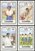 Lesotho 1985 Girl Guides 75th/ International Youth Year/ Guiding/ Rock Climbing/ Sports/ Medical 4v set (n15307)