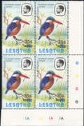 Lesotho 1986 (1981) Kingfisher/ Birds/ Nature  35s on 25s surcharge c/b (n28128)