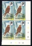 Lesotho 1986 Birds  /  Kestrel 15s on 1s surch c  /  b (a35)