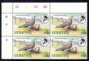 Lesotho 1986 Birds  /  Nature 15s on 2s surch  2A c  /  b (a58)