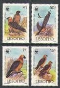 Lesotho 1986 Birds  /  Raptors  /  WWF 4v part set (n21917)