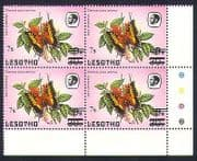 Lesotho 1986 Butterflies 7s on 9s on 30s surch c  /  b  a66