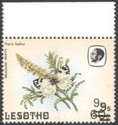 Lesotho 1986 Butterflies  /  9s on 60s  /  DOUBLE SURCHARGE ERROR  1v  (b2986)