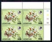 Lesotho 1986 Butterflies  /  Insects 15s on 3s sur c  /  b  a65