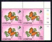 Lesotho 1986 Butterflies/ Insects/ Nature   40s on 7s surcharge  c/b  (a71)