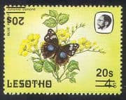 Lesotho 1986 Butterfly  /  Insects  /  Nature  / inverted double surcharge 1v SG732a (b1751)