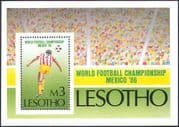 Lesotho 1986 Football World Cup Championships, Mexico/ Soccer/ WC/ Games/ Sports 1v m/s (s2654)