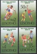 Lesotho 1986 Football World Cup, Mexico/ WC/ Sport/ Games/ 4v set (b1276)