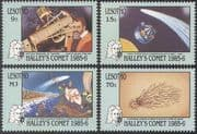 Lesotho 1986 Halley's Comet/ Space/ Science/ Astronomy/ Telescope 4v set (b7665)
