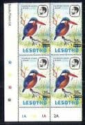 Lesotho 1986 Kingfisher  /  Birds  /  Nature surch c  /  b (n28130)