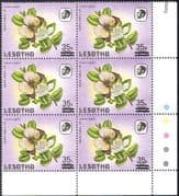 """Lesotho 1986 Surcharge 35s on 75s/ Large""""S""""/ Small""""s""""/ Butterflies/ Insects/ Nature 6 x 1v blk (n43232)"""