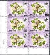 """Lesotho 1986 Surcharge 35s on 75s/ Large """"S""""/ Small """"s""""/ Butterflies/ Insects/ Nature 6 x 1v blk (n43233)"""