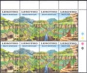 Lesotho 1989 Maloti Mountains/ Waterfall/ Aloes/ Plants/ Nature 4v s-t blk (n17062)