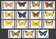 Lesotho 1991 Butterflies  /  Insects 15v set (n21926)