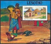 Lesotho 1993 Traditional Houses  /  Buildings  /  Architecture  /  Heritage 1v m  /  s (n16309)