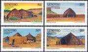 Lesotho 1993 Traditional Houses/  Buildings/ Architecture/ History  4v set (n16530)