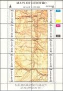 Lesotho 1996  (2nd issue, very scarce) Maps/ Map-making/ Geography /Cartography/ History 3 x 10v se-tenant sheets (s461d)
