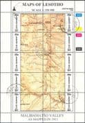 Lesotho 1996 (2nd issue, very scarce) Maps/ Map-making/ Geography/ Cartography/ History 3 x 10v se-tenant sheets VFU (s461j)
