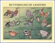 Lesotho 1997 Butterflies/ Butterfly/ Insects/ Nature/ Conservation 9v sht (b563)