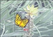 Lesotho 2007 Butterflies/ Moths/ Insects/ Flowers/ Nature/ Conservation 1v m/s (n18304)