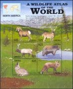 Liberia 2001 Wildlife Atlas/ Rabbit/ Fox/ Bear/ Sheep/ Elk/ Deer/ Animals/ Nature 6v sht (n15229)
