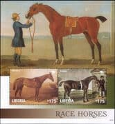 Liberia 2014 Race Horses/ Equestrian Sports/ Racing/ Art/ Paintings 2v m/s (s1568a)