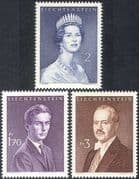 Liechtenstein 1960 Princess Gina/ Prince Francis Joseph II/ Prince Hans Adam/ Royal/ Royalty/ People 3v set (n44234)