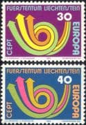 Liechtenstein 1973 Europa/ CEPT/ Communication/ Posthorn/ Arrows/ Animation 2v set (ex1058)