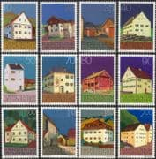 Liechtenstein 1978  Farmhouses/ Monastery/ Town Hall/ Buildings/ Architecture/ Conservation/ Heritage 12v set (n45171)