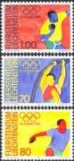 Liechtenstein 1984 Olympic Games/ Olympics/ Sports/ Discus/ Pole vault/ Shot Putt/ Athletics 3v set (n44226)