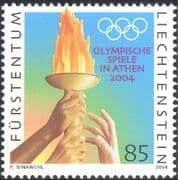 Liechtenstein 2004 Olympic Games/ Sports/ Olympics/ Flames/ Hands/ Rings 1v (n43780)