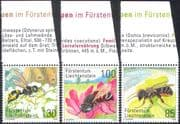 Liechtenstein 2008 Bees/ Wasps/ Insects/ Nature/ Conservation/ Environment 3v set (n42327)