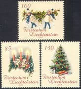 Liechtenstein 2008 Christmas/ Greetings/ Trees/ Holly/ Wreath/ Candles 3v set (n42348)