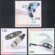 Liechtenstein 2008 Technical Innovations/ Valve/ Cable Connector/ Polymerisation Unit/ Inventions/ Industry 3v set (n42402)