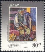 Lithuania 1993 Europa/ A. Gudaitis/ Contemporary Art/ Painting/ Artists/ Painters  1v (b3031c)