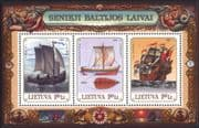 Lithuania 1997 Baltic Sailing Ships/ Nautical/ Boats/ Transport/ History 3v m/s (ee1173)