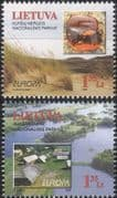 Lithuania 1999 Europa/ National Parks/ Nature/ Conservation/ Lakes/ Architecture  2v set (b3031j)