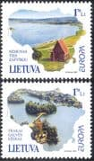 Lithuania 2001 Europa/ Water Resources/ Lake/ River/ Nature 2v set (n32775)