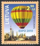 Lithuania 2010 EXPO/ Hot Air Balloon/ Aircraft/ Aviation/ Transport/ Flight  1v n4125