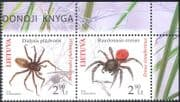 Lithuania 2012 Endangered Species/ Spiders/ Insects/ Arachnids/ Nature/ Conservation 2v set pr (n44188)