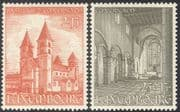 Luxembourg 1953 Echternach Abbey/ Basilica/ Buildings/ Architecture/ Heritage/ History/ Religion 2v set (n43485)