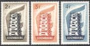"Luxembourg 1956 Europa/ ""Building Europe""/ Tower/ Politics/ Animation 3v set (n42305)"
