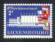 Luxembourg 1958 International Fair  /  Exhibition  /  Buildings  /  National Flags 1v n37361