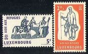 Luxembourg 1960 WRY  /  Refugees  /  Horse  /  Welfare 2v (n29031)