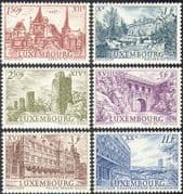 Luxembourg 1963 Palaces/ Abbey/ Castles/ Towers/ Buildings/ Architecture/ StampEx/ History/ Heritage 6v set (n42749)