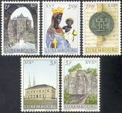 Luxembourg 1963 Town Hall/ Towers/ Black Virgin Statue/ Citadel/ Buildings/ Architecture/ StampEx/ Religion/ Art 5v set (n42749a)