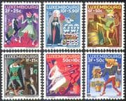 Luxembourg 1965 Fairy Stories/ Folk Tales/ Horse/ Owl/ Frog/ Dogs/ Witches/ Goblins/ Welfare Fund 6v set (n42753)
